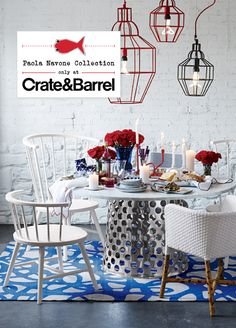 Paola Navone Collection only at Crate and Barrel- hmmm ok I didn't see this at the store last weekend. Gonna have to make note of this.