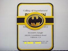 Batman Invitation inspired Birthday Invitations | Timberlysdesigns - Paper/Books on ArtFire