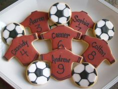 PERSONALIZED Soccer Team Cookies  Soccer  Cookies  by lorisplace, $3.50
