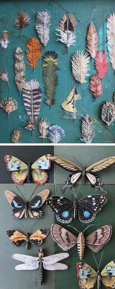 Artist Ann Wood of Woodlucker creates delicate paper art inspired by flora and fauna.