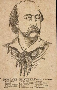 Gustave Flaubert (1821-1880) schrijver van misschien wel het mooiste boek Madame Bovary