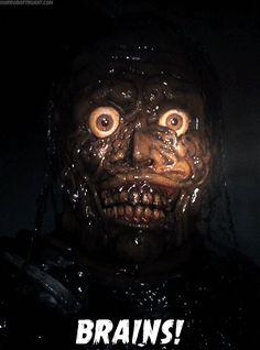 """Return of the Living Dead II"" Arte Horror, Horror Art, Gifs, Zombie Art, Best Horrors, Monster Art, Horror Films, Scary Movies, Zombie Apocalypse"