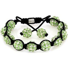 Royal Diamond Apple Green Shamballa Swarovski Crystal Stone Balls Shamballa Bracelet