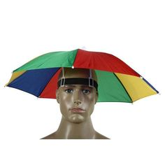 Portable 55cm Umbrella Hat Sun Shade Lightweight Camping Fishing Hiking Festivals Outdoor Brolly Free Shipping