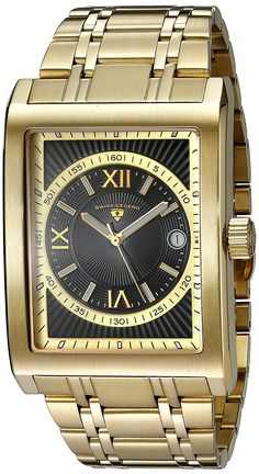 Swiss Legend Men's 40012-YG-11-RN Limousine Black Textured Dial Gold Ion-Plated Stainless Steel Watch * Want to know more about the watch, click on the image.