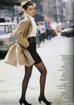 'Paris Seduction' from……….Vogue September 1987 feat Paulina Porizkova, Naomi Campbell & Linda Evangelista