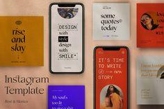 Social Media Template, Social Media Design, Web Design, Layout Design, Graphic Design, Instagram Design, Instagram Posts, Brand Guidelines Template, Case Study Design