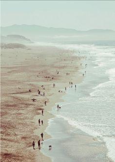Lovely pale sea shore...