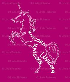 unicorn calligram