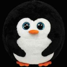 New Ty Beanie Ballz Avalanche The Penguin Large Stuffed Animal Read | eBay