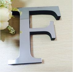 Acrylic Mirror 3D DIY wall stickers stickers English letters home decoration creative