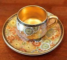 Antique Tea Cups, Vintage Cups, Vintage Tea, Tea Cup Set, Tea Cup Saucer, Espresso Cups, Coffee Cups, Porcelain Clay, Shabby Chic