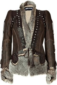 Just Cavalli Chocolate Boho Leather and Fur Combo Jacket in Brown (chocolate) - Lyst by Janny Dangerous
