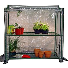 Have to have it. Early Start 2-Tier Mini Greenhouse - $55.99 @hayneedle