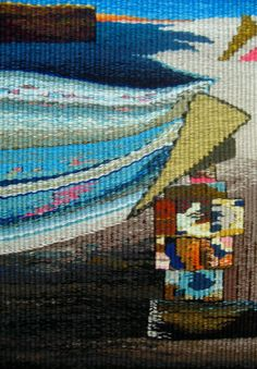 'Seahouses' (woven tapestry) Joyce Coulton - BRITISH TAPESTRY GROUP