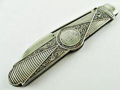 Antique Gorham 470 Sterling Silver Single Blade Folding Fruit Pocket Knife