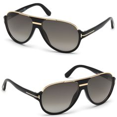 Tom Ford Dimitry TF 334 01P Shiny Black   Green Gradient Lens FT0334  Round  Gold aab500f645