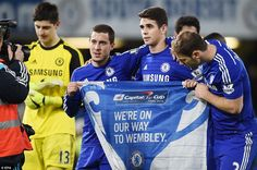 Chelsea 1-0 Liverpool (Capital One Cup semi final) 28th January, 2015...the blues r coming 2 wembley