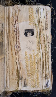 Untitled by Nina Morgan - Art House Sketchbook Project | My Sketchbook was based on nostalgia & memories that are deeply personal & poignant.It`s a visual diary http://www.arthousecoop.com/users/ninaloo #stitching #mixed_media #artists_book
