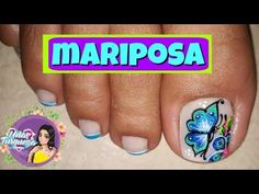 Decoración de Uñas Mariposa/DISEÑO DE UÑAS CON MARIPOSA - YouTube Ants, Mary, Beauty, Youtube, Toe Nail Art, Pretty Toe Nails, Cosmetology, Ant, Youtubers