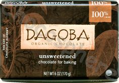 ★★★ Dagoba Organic Unsweetened Baking Tablet I find this edible, but Dagoba's owned by Hershey's, which has bad business practices. Organic Chocolate, Unsweetened Chocolate, Cocoa, Favorite Recipes, Baking, Business, Bakken, Store, Theobroma Cacao