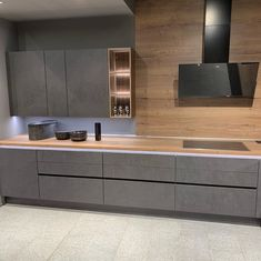 Kitchen Room Design, New Kitchen Designs, Luxury Kitchen Design, Home Decor Kitchen, Interior Design Kitchen, Kitchen Cabinet Styles, Modern Kitchen Cabinets, Modern Kitchen Interiors, Concrete Kitchen