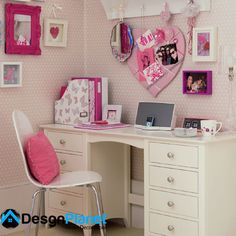 Kids desk idea for girls http://www.desgnplanet.com/unique-kids-desk-designs/