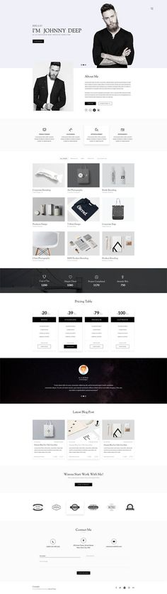 Maxive Multi-Purpose Minimal Agency, Personal, Photography, Portfolio PSD Template