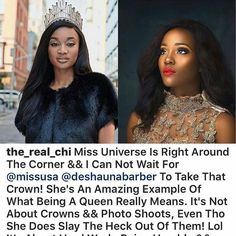 MBGN (Tourism) 2014 @the_real_chi shades MBGN 2015 @unoaku.anyadike . . Chinyere Adogu the Most Beautiful Girl in Nigeria (Tourism) 2014 has caused major stir online by her endorsement of Miss U.S.A Barber over Unoaku Anyadike the  MBGN 2015 representing Nigeria at the upcoming Miss Universe 2016. . . While endorsing Barber she said being a beauty queen goes beyond crowns and photoshoots a comment many see as a shade to Anyadike who posted pictures from her recent photoshoot some hours…