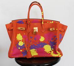 Customizada: A Birkin da Aurora    por Juliana Ali   Juliana e a moda       - http://modatrade.com.br/customizada-a-birkin-da-aurora