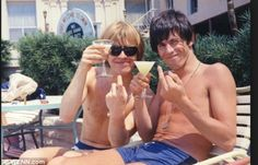 Brian Jones & Keith Richards of The Rolling Stones, 1964, on tour U.S.A.,  Clearwater, Florida