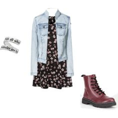 Floral dress and combat boots