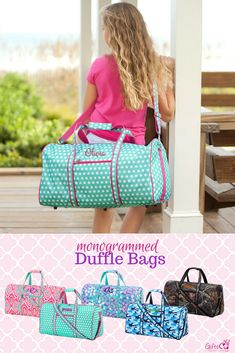 db4a7cad6a These cute duffle bags are beautifully monogrammed and perfect for kids    teen. Personalized duffle