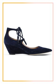 Going-Out Shoes You Can Actually Walk In #refinery29  http://www.refinery29.com/comfortable-going-out-shoes#slide-1  Just imagine these baby-wedged suede steppers perfectly laced up with cropped pants....