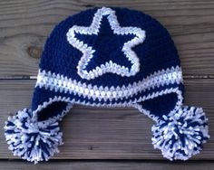 Crochet~Cowboys Crochet Earflap Hat- idea