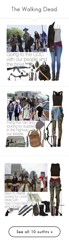 """""""The Walking Dead."""" by aras-aniluap ❤ liked on Polyvore featuring Episode, Brinley Co, McQ by Alexander McQueen, Forever 21, Topshop, AllSaints, MAXXMAXIMUS, Revolver, Roberto Coin and women's clothing"""