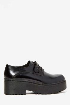 Jeffrey Campbell Cedric Leather Platform Shoe