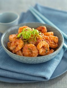 Sichuan Prawns in Chilli Sauce from Ken Hom. Ditch the greasy Chinese takeaway for this healthy and tasty alternative.