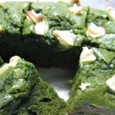 Green tea matcha brownies