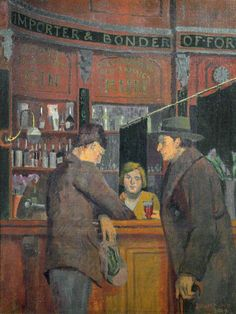 malcolm drummond(1880–1945), the stag tavern, 1929. oil on canvas, 100.5 x 75 cm. brighton and hove museums and art galleries http://www.bbc.co.uk/arts/yourpaintings/paintings/the-stag-tavern-74656