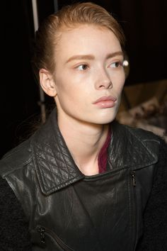 Julia Hafstrom backstage at Diesel Black Gold Fall 2015 RTW ♥♥♥