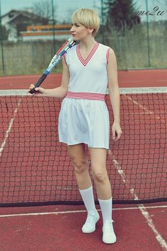 retro tennis outfit