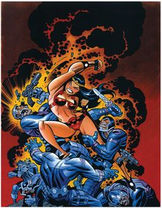 Big Barda Fighting Apokolips Soldiers by Bruce Timm Comic Book Artists, Comic Book Characters, Comic Artist, Comic Character, Comic Books Art, Character Design, Bruce Timm, Dc Comics Art, Comics Girls