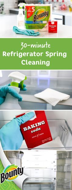 Spring cleaning is easy when you have Bounty Select-A-Size paper towels. And now, thanks to this 30-minute refrigerator clean out tutorial, your kitchen can look fresh and organized in no time at all. Order your Bounty Select-A-Size paper towels today and start checking items off your spring cleaning to-do list.