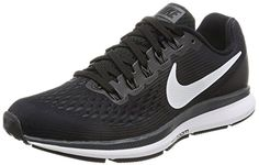 Nike Womens Air Zoom Pegasus 34 Black/White/Dark Grey/Anthracite Running Shoes (7.5)