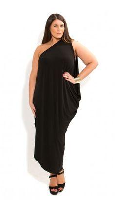 1dd21932e11 Plus Size One Shoulder Drape Dress - City Chic - City Chic Plus Size Maxi  Dresses