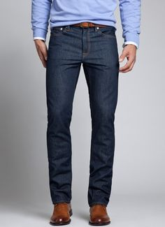 Dark Rinse Denim for Men | Bonobos I think I found my new pair of favorite pants, just make sure you follow their 'Fitting Guide' it will provide you the perfect fit for these.