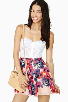 Nasty Gal Bloom Street Skater Skirt - Nasty Gal - $42