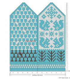 Knitted Mittens Pattern, Crochet Mittens, Crochet Gloves, Knitting Charts, Knitting Stitches, Knitting Socks, Knitting Patterns, Fair Isle Knitting, Tapestry Crochet