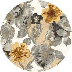 Transitional Floral Pattern Gray/Black Wool/Silk Tufted Rug BL65 contemporary…